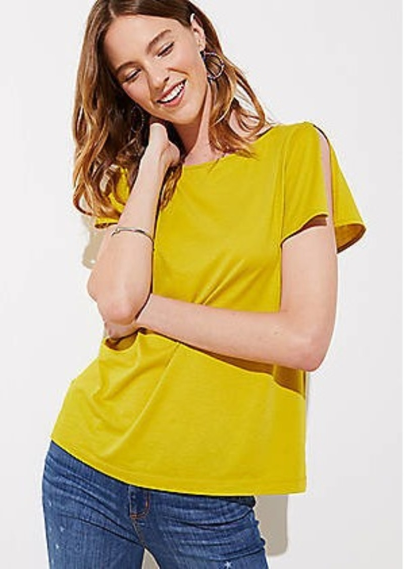 LOFT Split Sleeve Tee