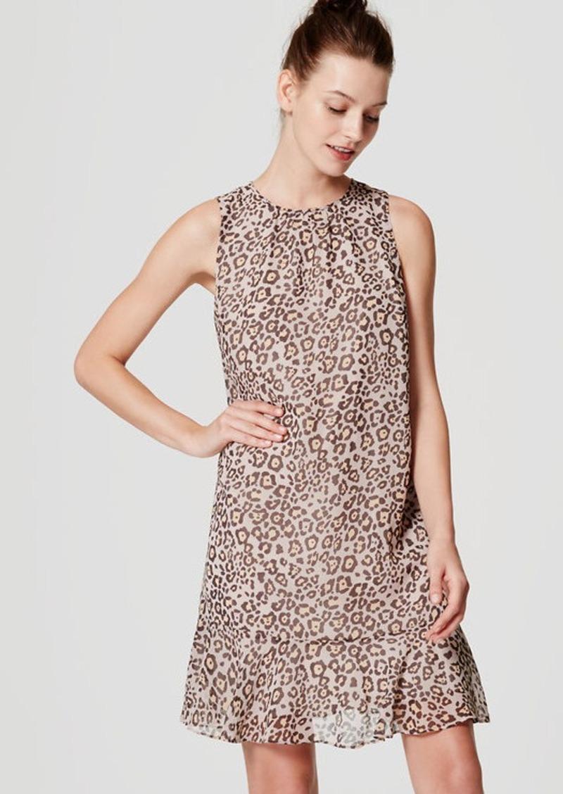 LOFT Spotted Flounce Dress