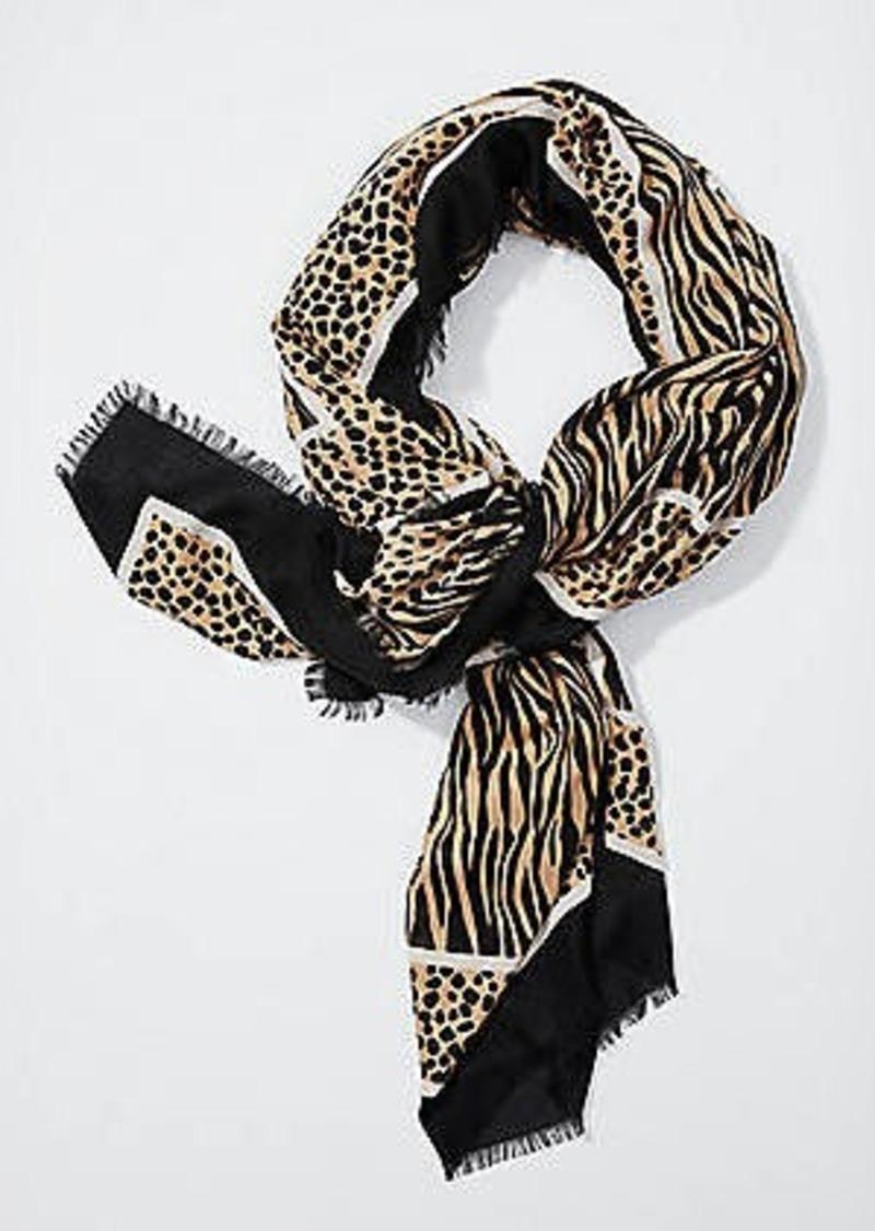 LOFT Spotty Leopard & Tiger Square Scarf
