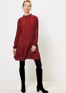 LOFT Sprinkle Ruffle Flounce Dress