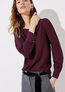 LOFT Square Neck Blouse