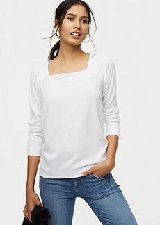 LOFT Square Neck Sweatshirt
