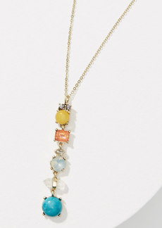 LOFT Stacked Crystal Stone Necklace