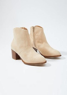 LOFT Stacked Heel Ankle Boots