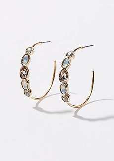 LOFT Stacked Stone Hoop Earrings