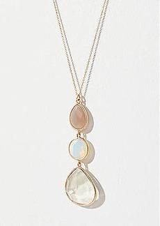 LOFT Stacked Stone Pendant Necklace