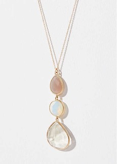 LOFT Stacked Stone Pendant Necklace