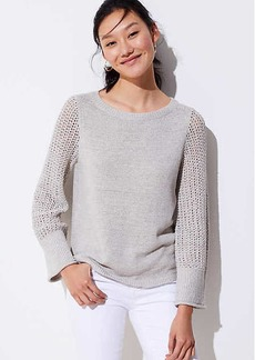 LOFT Stitched Sleeve Sweater