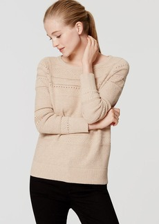 LOFT Stitched Stripe Sweater