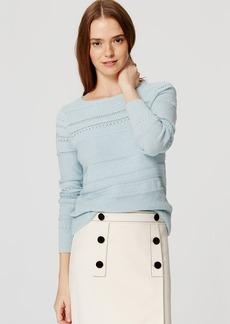 LOFT Stitched Stripe Sweater