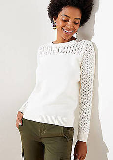LOFT Stitched Yoke Sweater