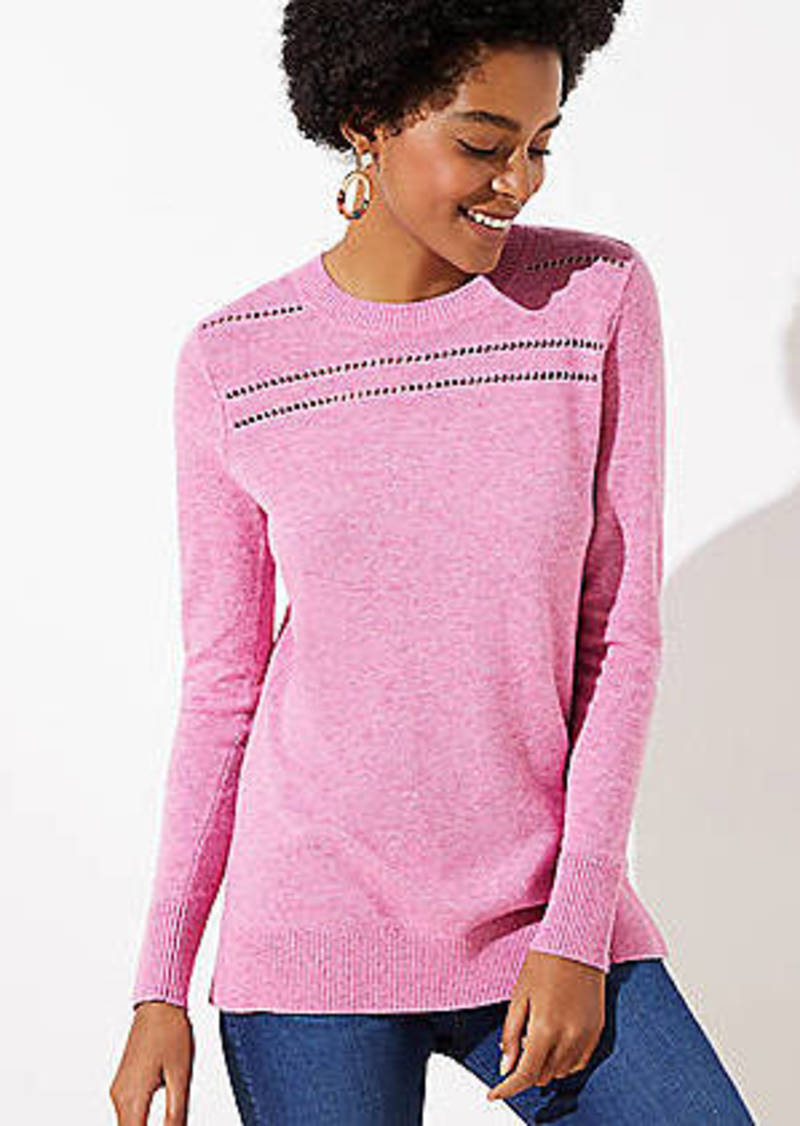LOFT Stitched Yoke Tunic Sweater