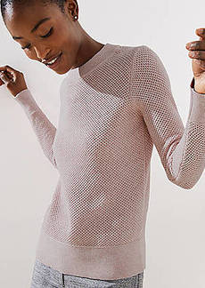 LOFT Stitchy Back Keyhole Sweater