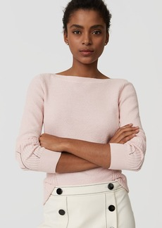 LOFT Stitchy Boatneck Sweater