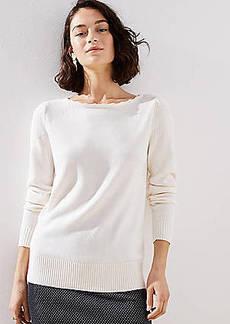 LOFT Stitchy Puff Sleeve Sweater