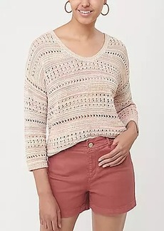LOFT Stitchy V-Neck Sweater