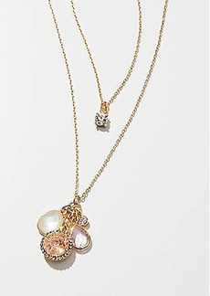 LOFT Stone & Crystal Cluster Pendant Necklace Set