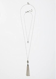 LOFT Stone & Tassel Pendant Necklace Set