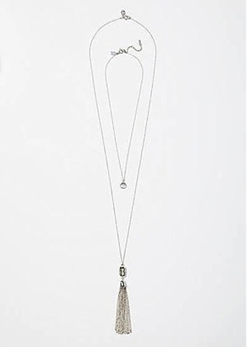 LOFT Stone & Tassel Pendant Necklace Set