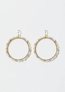 LOFT Stone Beaded Ring Earrings