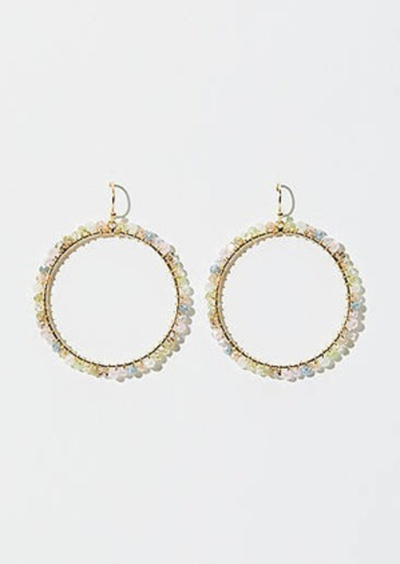 LOFT Stone Beaded Ring Earrings