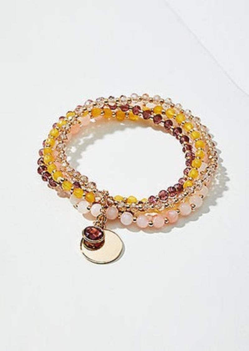 LOFT Stone Beaded Stretch Bracelet Set