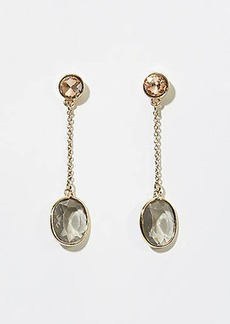 LOFT Stone Chain Drop Earrings