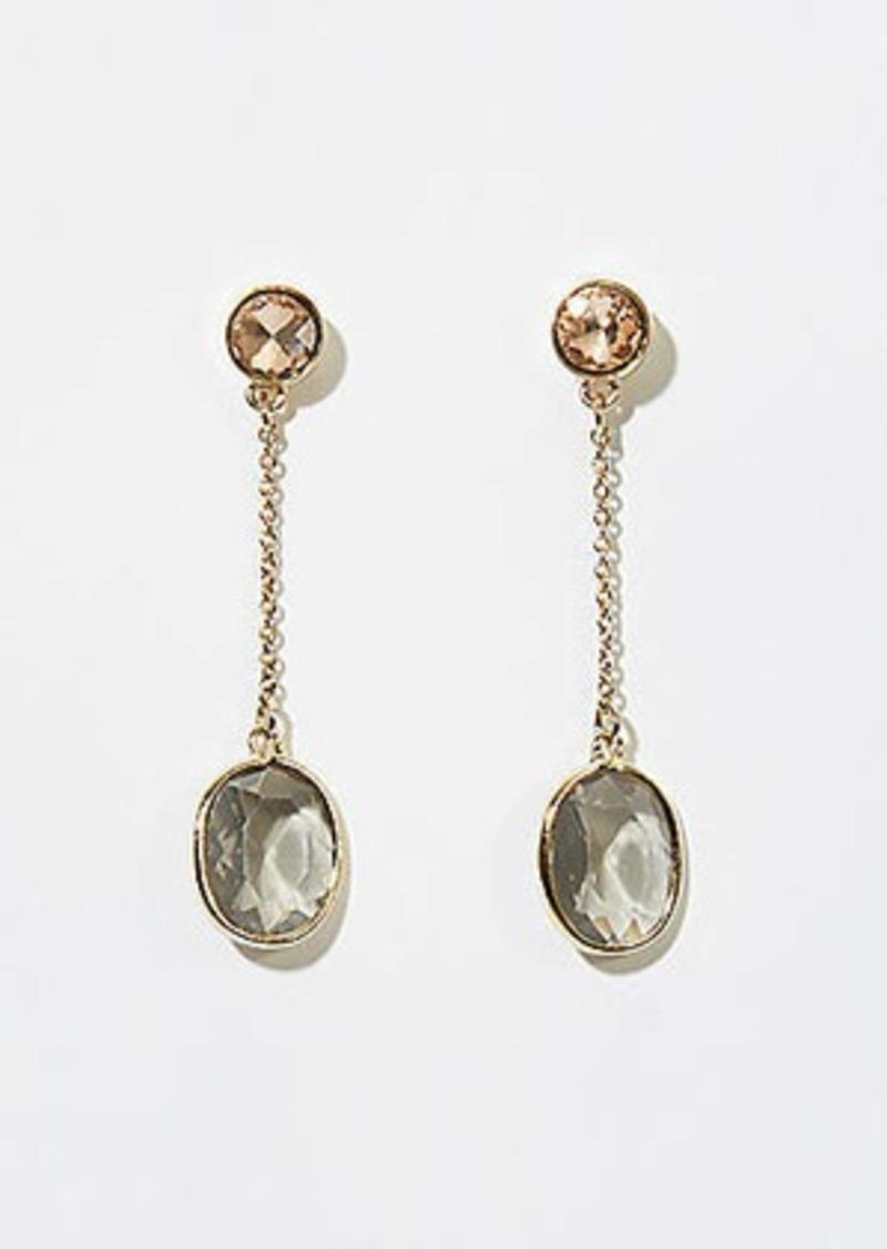 LOFT Stone Chain Drop Earrings