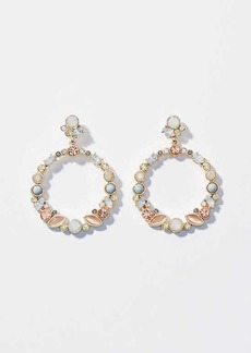 LOFT Stone Cluster Drop Earrings