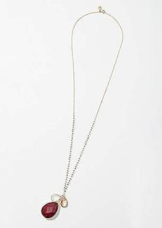 LOFT Stone Cluster Pendant Necklace