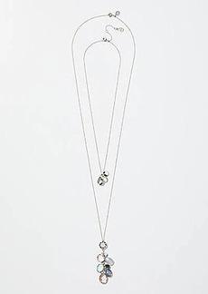 LOFT Stone Cluster Pendant Necklace Set