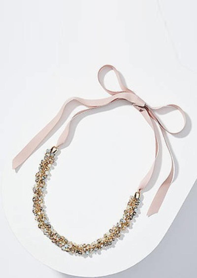 LOFT Stone Cluster Tie Necklace