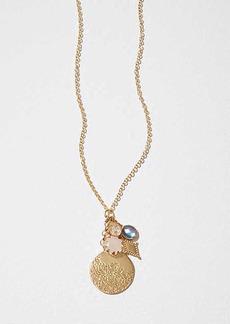 LOFT Stone Disc Cluster Pendant Necklace
