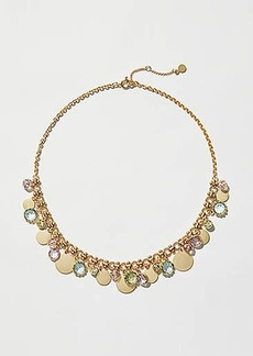 LOFT Stone Disc Statement Necklace