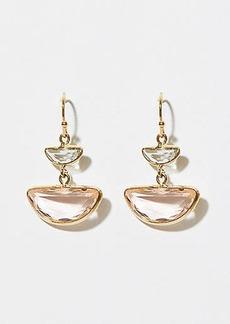 LOFT Stone Half Circle Drop Earrings