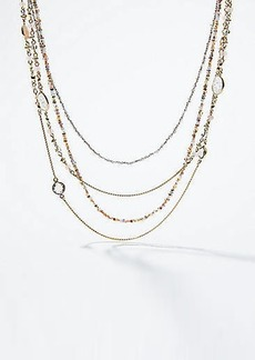 LOFT Stone Multistrand Necklace