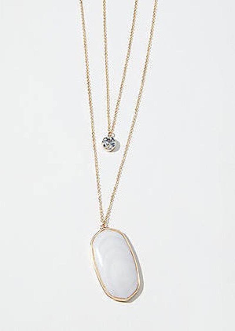 LOFT Stone Pendant Necklace Set