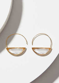 LOFT Stone Pull Through Hoop Earrings