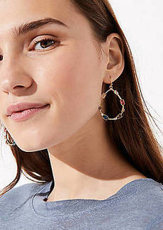 LOFT Stone Ring Drop Earrings