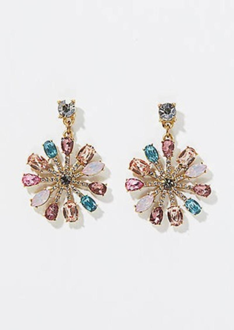 LOFT Stone Sunburst Earrings