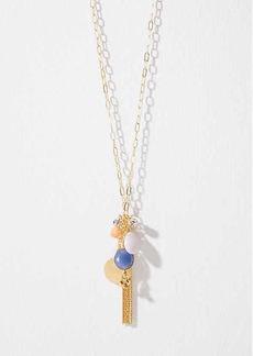 LOFT Stone Tassel Cluster Pendant Necklace