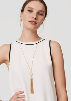 LOFT Stone Tassel Necklace