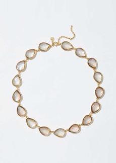 LOFT Stone Teardrop Necklace