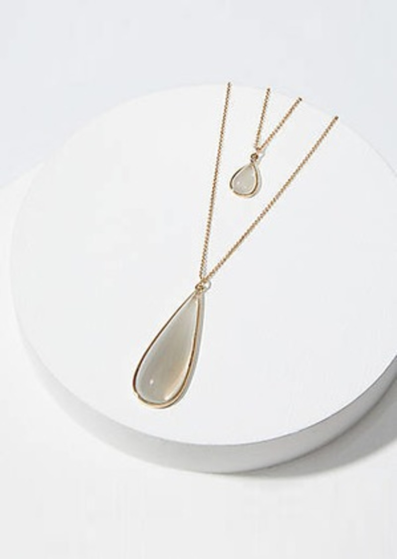 LOFT Stone Teardrop Pendant Necklace Set