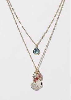 LOFT Stone Teardrop Pendant Necklace Set