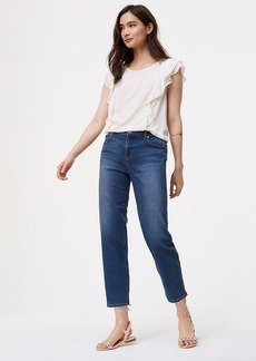 Straight Crop Jeans in Vintage Blue Wash