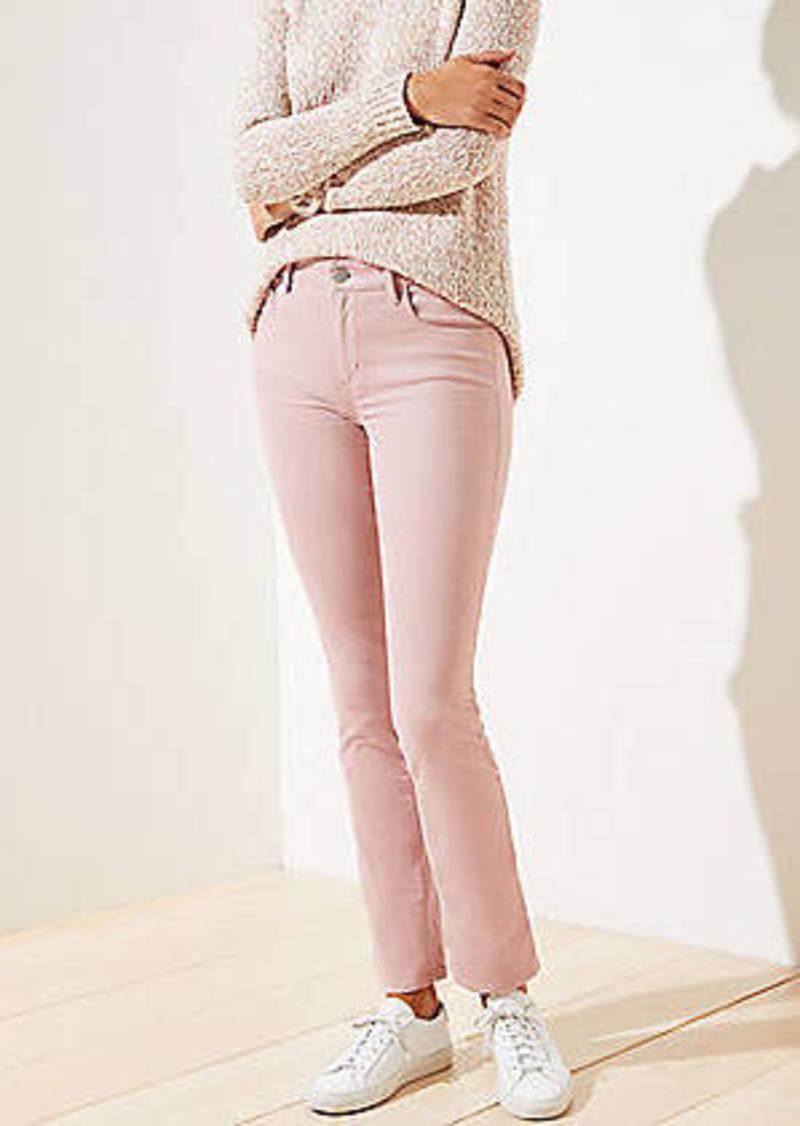 LOFT Straight Leg Corduroy Pants