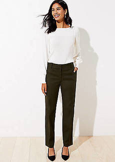 LOFT Straight Leg Pants in Doubleweave