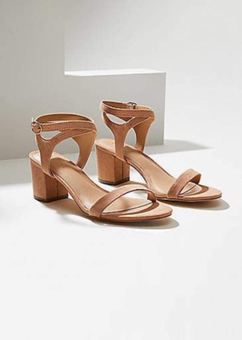 LOFT Strappy Block Heel Sandals