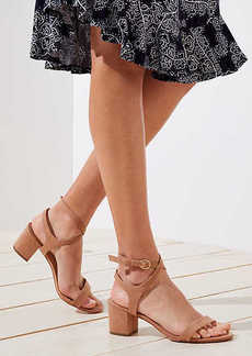 LOFT Strappy Block Heel Sandals